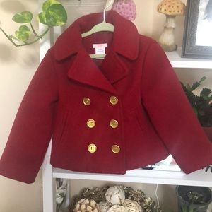 Joe Fresh Red Double-breasted Peacoat